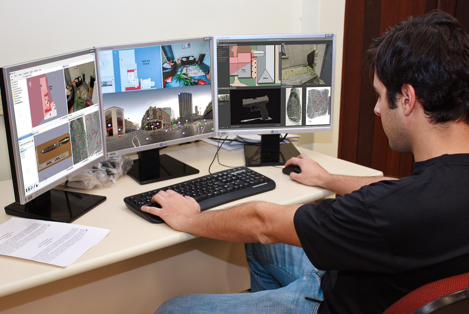 R2S screens photoshopped onto image